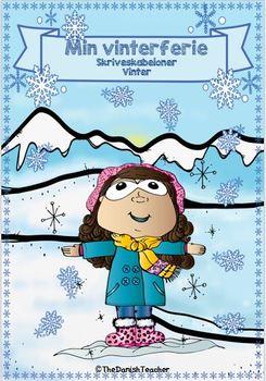 Min vinterferie - Skriveskabeloner Vinter