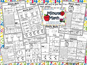 First Grade Minute Math Daily Challenges NO-PREP VOL. 1-4 Bundle