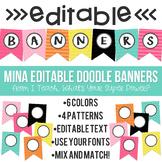 Mina Editable Doodle Banners