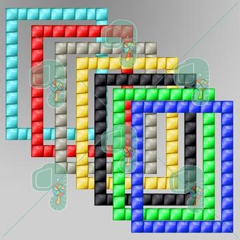 "Minecraft Clip Art- Pixel Craft Block Frames 8.5"" x 11"""