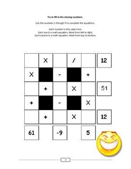 Mind-Bending Math Puzzles -- Binder