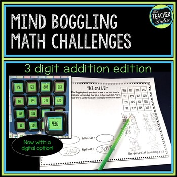 Math Enrichment Activities: Math Center-Addition With Regrouping Math Challenges