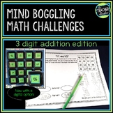 Math Enrichment Activities: Addition With Regrouping w/ di