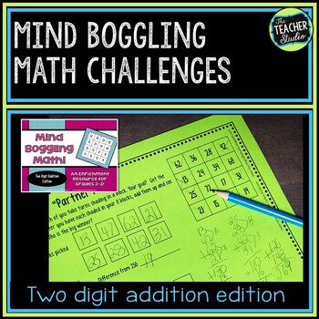 Math Enrichment Activities | Mind Boggling Math Center: Two Digit Addition
