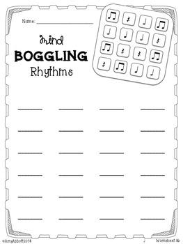 Mind Boggling Rhythm Games & Worksheets: Bundled Set #1