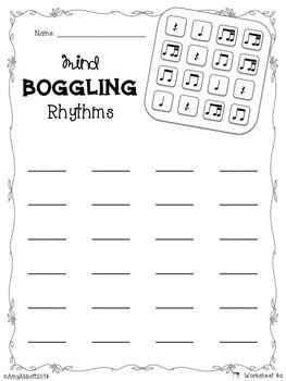 Mind Boggling Rhythm Games & Worksheets: Bundled Set #2