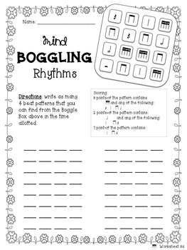 Mind Boggling Rhythm Games & Worksheets: tika-tika