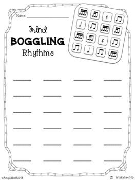 Mind Boggling Rhythm Games & Worksheets: tika-ti/tiri-ti