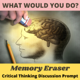Critical Thinking What Would You Do Activity: Mind Erasing