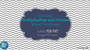 Mind Map for Solving Multiplication and Division Word Problems