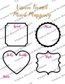 Mind Mapping vision board worksheet | positive | affirmations | men | kids