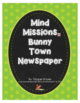 Mind Missions Bunny Town Newspaper