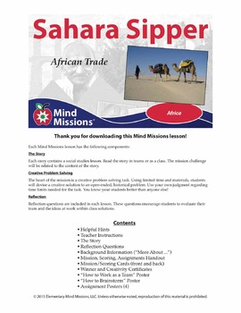 Mind Missions: Sahara Sipper