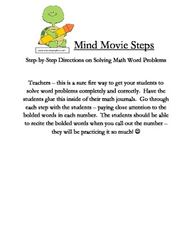 Mind Movie Step - Steps to Solving Word Problems
