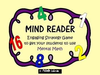 Mind Reader {Engaging Mental Math Strategy Game}