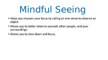Mind Up Lesson 5 Mindful Seeing