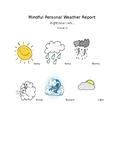 Mind Up Week 3 Personal Weather Report Worksheet Mindfulness