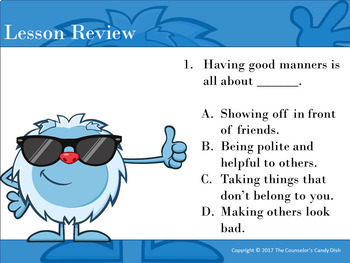 Mind Your Manners - An Interactive PowerPoint / Whiteboard Lesson