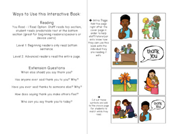 Mind Your Manners Interactive (Adapted) Books for Special Ed