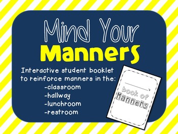 Mind Your Manners >> Mind Your Manners Interactive Booklet