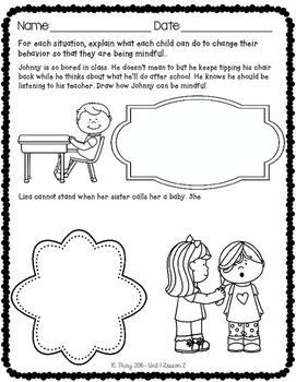 Mindful Learning Printables and Responses Bundle