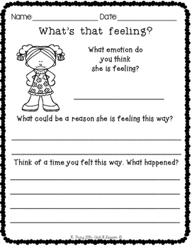Mindful Learning Unit III- It's All About Attitude Printables & Responses