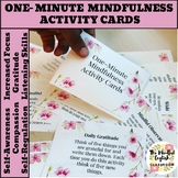 Mindfulness Activities - One-Minute Mindfulness Cards - Ch