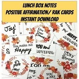 Mindfulness Activities -Positive Affirmation Cards. Fall L