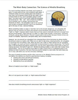 Mindfulness Choices Program for Middle & High School