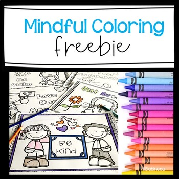 Mindful Coloring Pages Freebie