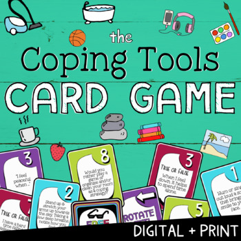 MINDFUL COPING SKILLS Card Game *A Fun Mindfulness Stress Management Activity