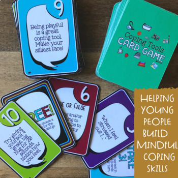 COPING TOOLS: A Stress Management & Coping Skills School Counseling Card Game