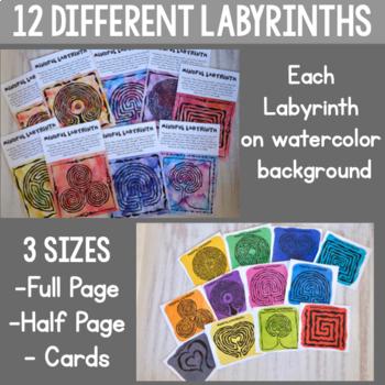 Mindfulness Labyrinths (Maze) Activity