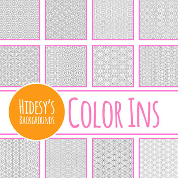 Mindful Magic Adult Level Detailed Coloring In Digital Papers / Backgrounds