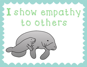 Mindful Manatee Mantras - Classroom Posters