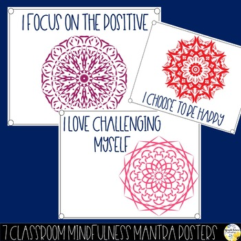 Mindful Mandala Mantras - Counseling Office and Classroom Decor