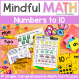 Numbers to 10 - First Grade Mindful Math