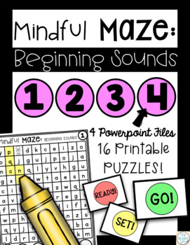 Digital Task Cards Beginning Sounds Interactive Mazes