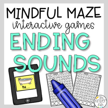 Digital Task Cards Ending Sounds Mazes