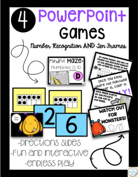 Digital Task Cards Numbers 0-10: Numerals and Ten-Frames