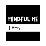 "Mindful Me Journal Cover ""I Am"" Black & White"
