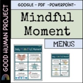 Mindful Moment Daily Visual | Mindfulness Menu | Boost Men