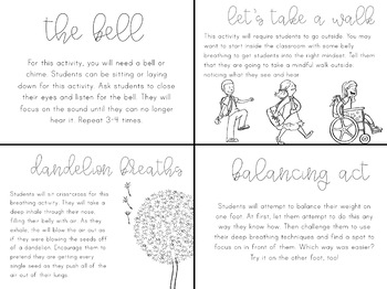 Mindful Morning Activity Cards
