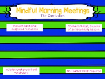 Mindful Morning Meetings:  The Brain and Mindfulness