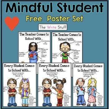 Mindful Student Poster Set {FREEBIE}