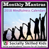 Mindfulnes: Monthly Mantras {2018 Calendars}