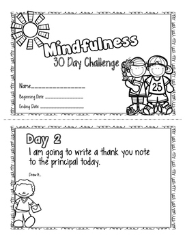 Mindfulness 30 Day Challenge