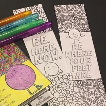 Mindfulness Activities Flipbook Bookmarks and Posters