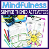 Mindfulness Activities For Summer Counseling And SEL Lessons