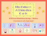 Mindfulness Affirmation Student Cards -- Positivity, Meditation, Growth Mindset